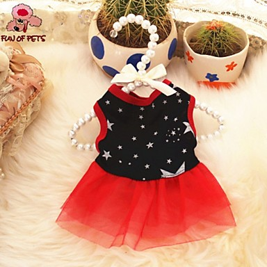 Cat Dog Dress Dog Clothes Casual/Daily Stars Black Costume For Pets