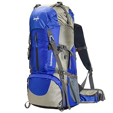 60L Rucksäcke / Rucksack - Wasserdicht, Regendicht, tragbar Camping & Wandern, Klettern Nylon, Maschen, Terylen Rot, Blau, Leicht Grün