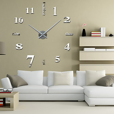 Modern/Contemporary Other Round Indoor,AA Wall Clock