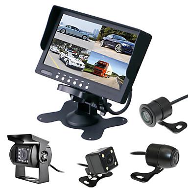 renepai® 7 tommers 4 i en hd-skjerm + buss 170 ° hd bil ryggekamera vanntett kamera kabellengde 6m, 10m, 16m, 20m,