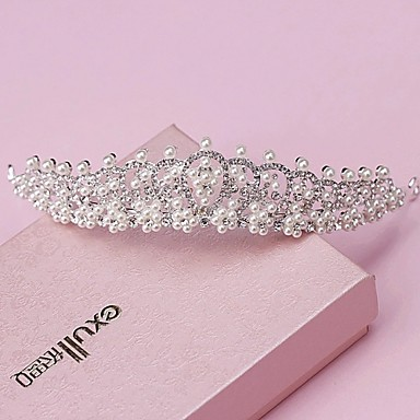 abordables Bijoux de Cheveux-Perle / Strass / Alliage Diadèmes / Coiffure avec Fleur 1pc Mariage / Occasion spéciale Casque