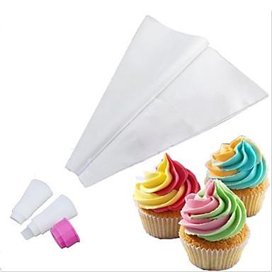 két-tónusú dupla színes jegesedés csővezeték táska cukormázat cupcake tortát díszítő eszközök (véletlenszerű szín)