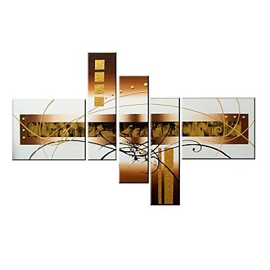 Hand-Painted Abstract Any Shape, Modern Canvas Oil Painting Home Decoration Four Panels
