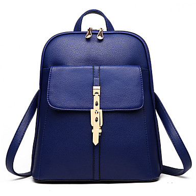 Women Bags PU Backpack Rivet Buttons for Event/Party Shopping Casual Formal Outdoor Office & Career All Seasons Wine Light Blue Royal