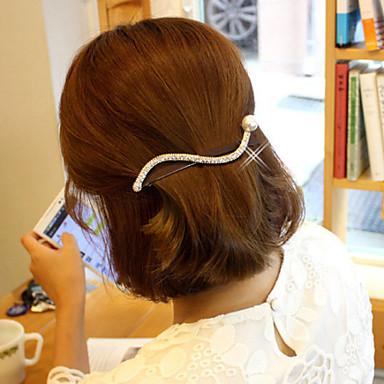 Стразы Сплав металлов Заставка-На каждый день на открытом воздухе Заколка для волос 1 шт.