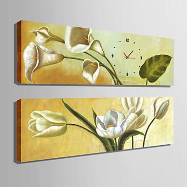 Retro Canvas Rectangular Indoor,AA Wall Clock