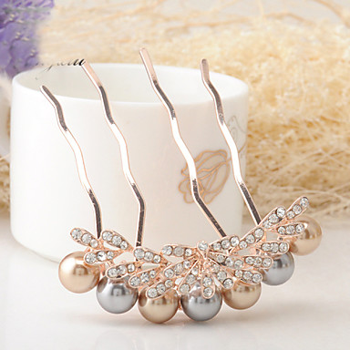 Women's Rhinestone/Alloy Headpiece - Special Occasion/Casual Hair Pin 1 Piece