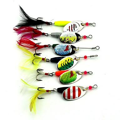 7 pcs Spinnerbaits leurres de pêche Leurre Buzzbait & Spinnerbait Grenouille g/Once mm/2-5/8