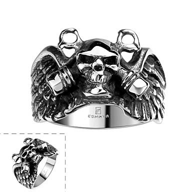 男性用 指輪 ファッション ステンレス鋼 スカル ジュエリー Halloween 日常 カジュアル スポーツ