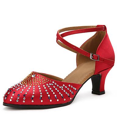 Buty do tańca - Damskie - Nowoczesny - Dla dostosowania - Obcasy cuban -