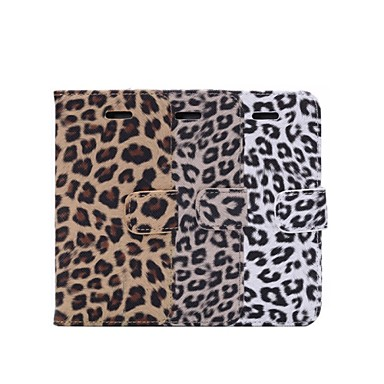 Case For Apple iPhone 8 iPhone 8 Plus iPhone 6 iPhone 6 Plus Card Holder Wallet with Stand Flip Pattern Full Body Cases Leopard Print Hard