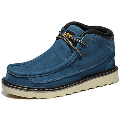 Homens sapatos Camurça Inverno Outono Coturnos Curta/Ankle Botas Cowboy/Country Conforto Botas 15,24 a 20,32 cm 20,32 a 25,4 cm Botas