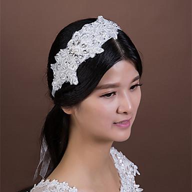 Femme Dentelle Strass Cristal Imitation de perle Casque-Mariage Occasion spéciale Serre-tête 1 Pièce