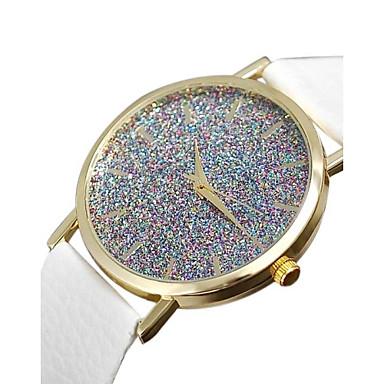 Damskie Kwarcowy Zegarek Pave sztuczna Diament PU Pasmo Urok Modny Czarny Biały