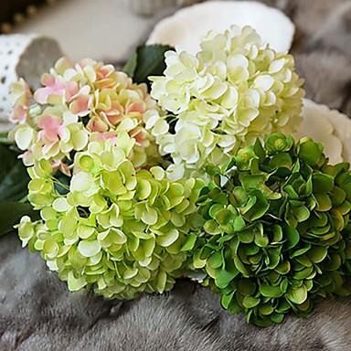 1 Tak Zijde Hortensia's Bloemen voor op tafel Kunstbloemen