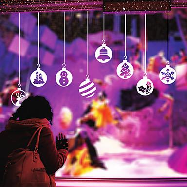 παράθυρο παράθυρο αυτοκόλλητα αυτοκόλλητα αυτοκόλλητα στυλ παράθυρο Χριστούγεννα Γιορτινές γυάλινο παράθυρο φανάρι PVC διακόσμηση