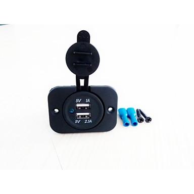 Lossmann автомобильное зарядное устройство 2 порта USB 5 В 3.1a водонепроницаемый зарядное устройство для мотоцикла автомобиля черный