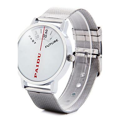Men's Quartz Wrist Watch Hot Sale Alloy Band Charm Unique Creative Watch Silver