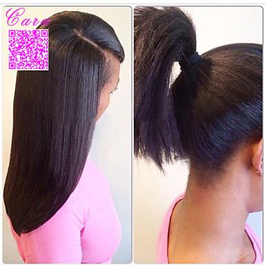 Натуральные волосы Кружевной парик Прямой силуэт Полностью ленточные Бесклеевая сплошная кружевная основа 100% ручная работа Парик в