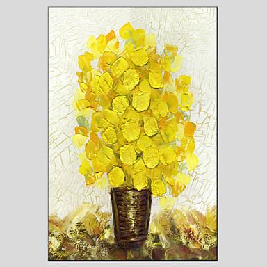 El-Boyalı Çiçek/BotanikModern / Avrupa Tipi Tek Panelli Kanvas Hang-Boyalı Yağlıboya Resim For Ev dekorasyonu