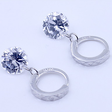 Women's Synthetic Diamond Stud Earrings - Sterling Silver, Zircon, Imitation Diamond Birthstones Silver For Daily / Casual / Sports