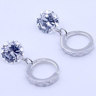 Damen Sterling Silber Zirkon Diamantimitate Ohrstecker - Geburtssteine Silber Ohrringe Für Alltag Normal Sport