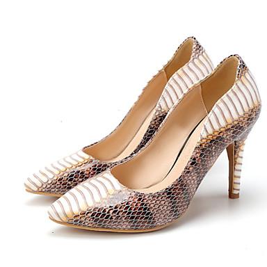 Γυναικεία παπούτσια - Γόβες - Γάμος / Γραφείο & Δουλειά / Φόρεμα - Τακούνι Στιλέτο - Με Τακούνι / Κλειστή Μύτη - Δέρμα - Άσπρο / Ταμπά