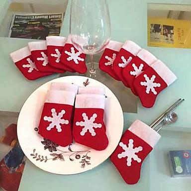 1 szt mini Pończochę obiadowy cover xmas skarpety obiadowe dekoracje stołowe