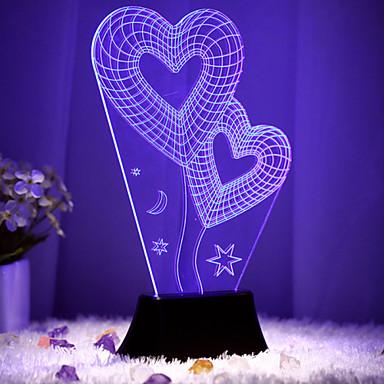 Creative 3D kolorowe doprowadziły stereo i salon sypialnia atmosfera lampy