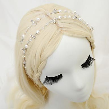 Kryształ Imitacja pereł Kryształ górski Stop Opaski na głowę 1 Ślub Specjalne okazje Winieta