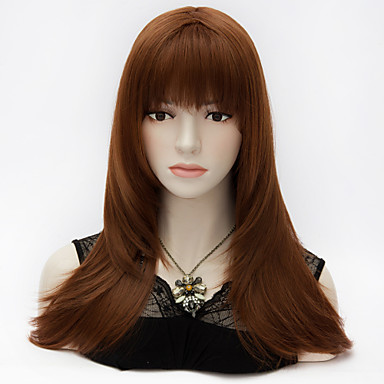 purecas Ευρωπαϊκό στυλ μακρύ πολυεπίπεδη ίσια μαλλιά πυρόξανθα πλήρη Έκρηξη κόμμα μόδα συνθετικά lolita κομψό περούκα γυναικών
