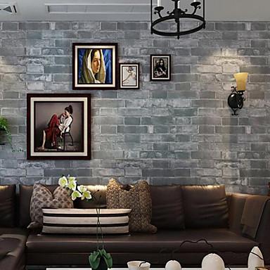Geometrik Duvar Kağıdı Çağdaş Duvar Kaplamaları , PVC/Vinil 0.53m*10m