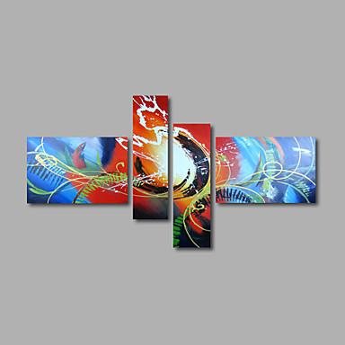 Ręcznie malowane StreszczenieNowoczesny Cztery panele Płótno Hang-Malowane obraz olejny For Dekoracja domowa