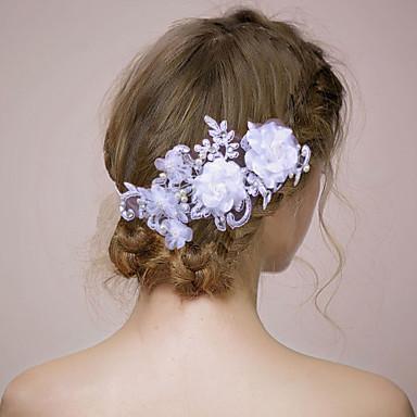 Γυναικείο Δαντέλα Headpiece-Γάμος Λουλούδια 1 Τεμάχιο