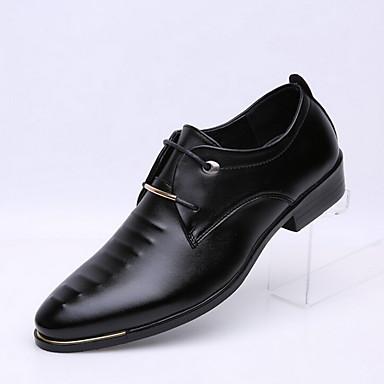 Черный / Коричневый Мужская обувь На каждый день Дерматин Оксфорды