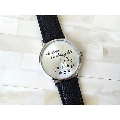 Kadın's Quartz Bilek Saati PU Bant Sözlerle Saat / Moda