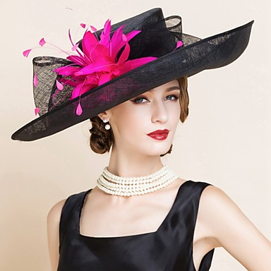 Lan Kentucky Derby Hat / kape s 1 Vjenčanje / Special Occasion Glava