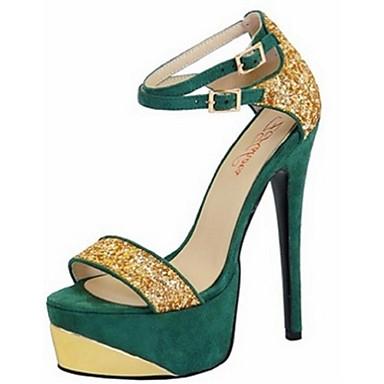 Γυναικεία Παπούτσια Φλις Άνοιξη Καλοκαίρι Τακούνι Στιλέτο για Γραφείο & Καριέρα Φόρεμα Πάρτι & Βραδινή Έξοδος Μαύρο Κόκκινο Πράσινο