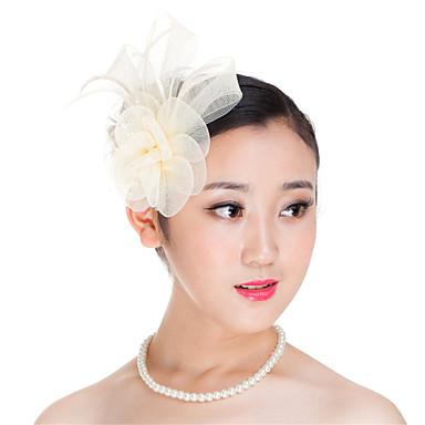 Edelstein & Kristall Künstliche Perle Feder Polyester Fascinatoren Kopfbedeckung with Kristall 1 Hochzeit Besondere Anlässe Party / Abend