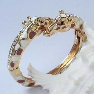 Bracelet - en Alliage/Strass - Vintage/Mignon/Soirée/Décontracté - Rigide