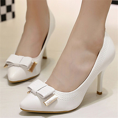 Черный / Фиолетовый / Белый - Женская обувь - Для праздника - Дерматин - На шпильке - С острым носком - Обувь на каблуках