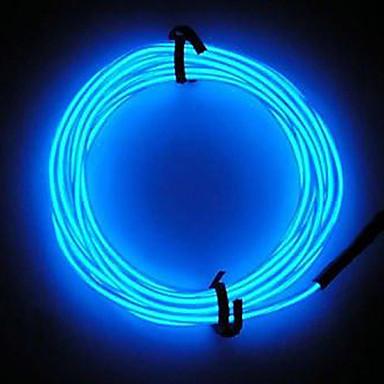 неоновые привело свет свечение EL провод строка полоса автомобиль бар веревка трубки танцевальная вечеринка украшения с контролем батареи