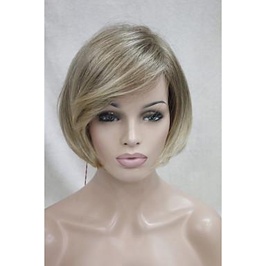 Naisten Synteettiset peruukit Lyhyt Suora Liukuvärjätyt hiukset Halloween Peruukki Carnival Peruukki Rooliasu peruukki