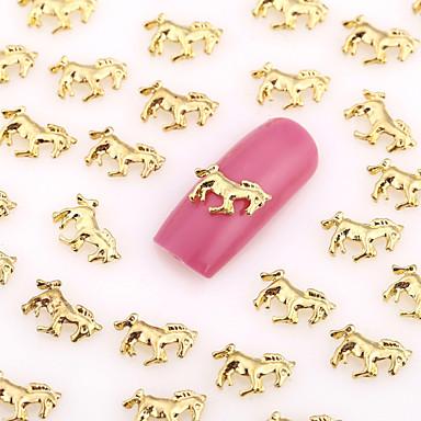 200 - 10*7*0.6 - Αφηρημένο / Lovely / Πανκ / Γάμος - Κοσμήματα Νυχιών - για Δάχτυλο / Δάκτυλο Ποδιού - από Μέταλλο
