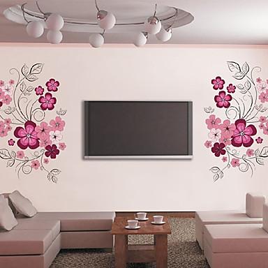 kauniita kukkia tv taustalla kone seinä tarroja seinään sisustus, pvc irrotettava