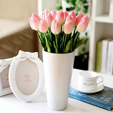 Gałąź Plastikowy Tulipany Bukiety na stół Sztuczne Kwiaty