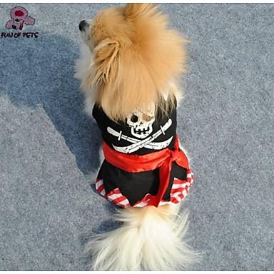 Kissa Koira Haalarit Koiran vaatteet Muoti Pääkallot Musta Asu Lemmikit