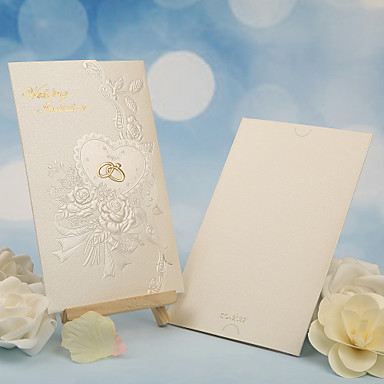 Tri-Fold Wedding Invitations 50 - Others Invitation Cards Classic Material Pearl Paper Flower