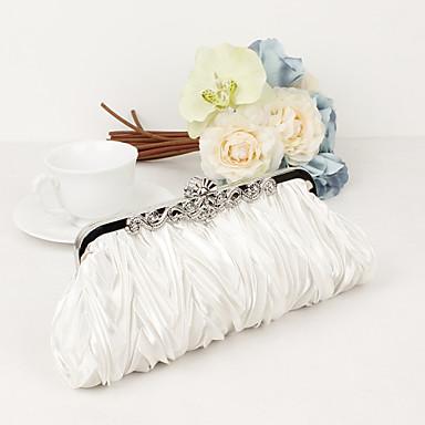 halpa Häät käsiraudat-naisten laukut satiini / metalli-laukku kristalli / tekojalokivi violetti / ruskea / punainen / häät laukut / häät laukut