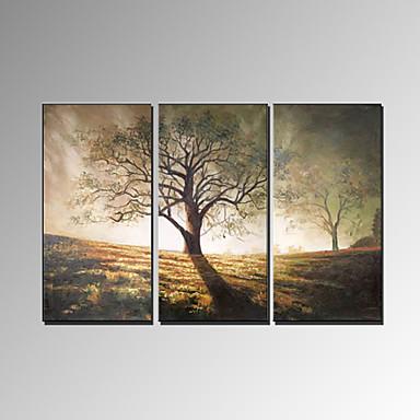 Peint à la main Paysage Panoramique horizontal, Moderne Peinture à l'huile Hang-peint Décoration d'intérieur Trois Panneaux